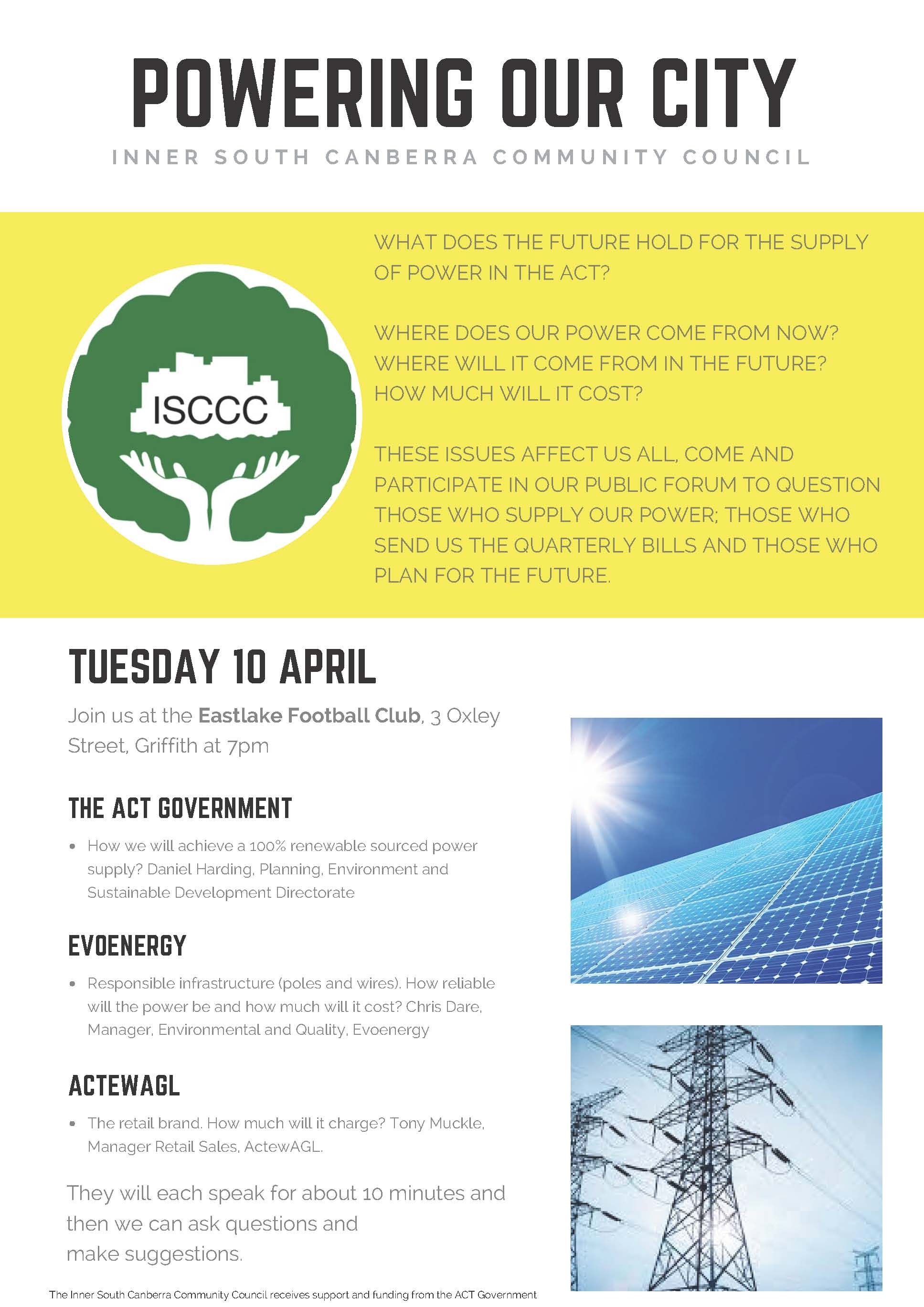 ISCCC Energy Forum – 10 Apr 18